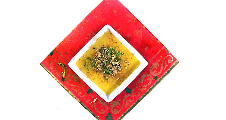 Leek and Potato Soup with a Touch of Christmas
